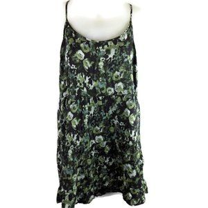 New Maurices Womens XL Floral Tank Top Cami Green